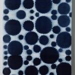 2010 藍夾絞布 395×107