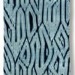 2015 藍染絞布「柏翁」 380×85