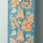 2004 雨色  帯地36×500  絹