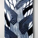 2009 藍染絞布 怪樹 384×114