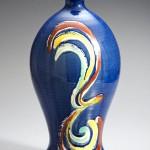 2013 呉須釉赤絵瓶 37×20×20