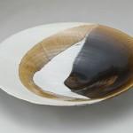 2010 飴釉掛合大皿 11.5×63.8×63.8
