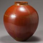 2015 赤柿釉花瓶 30x30x30