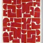 2012 飾布 赤のかたち2012 303×110