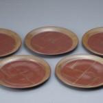 2012 蘇芳柿釉組皿 2×27.5×27.5 5枚組